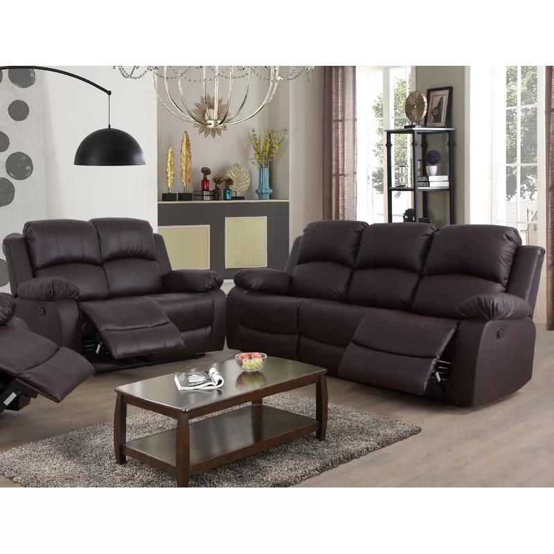 Napolitano 2 Piece Reclining Living Room Set Living Room Sets Leather Living Room Set Living Room
