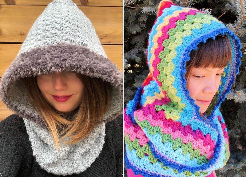 Cosy and Easy to Make Crochet Hoods | Crochet hood ...