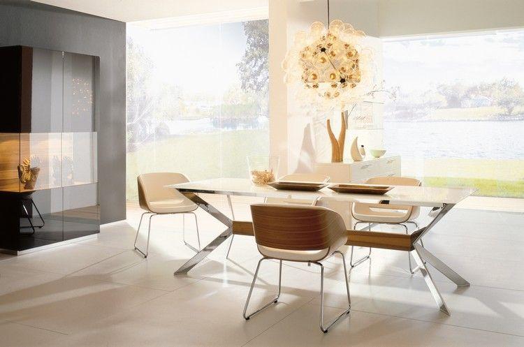 meuble salle à manger moderne, suspension originale, table ...