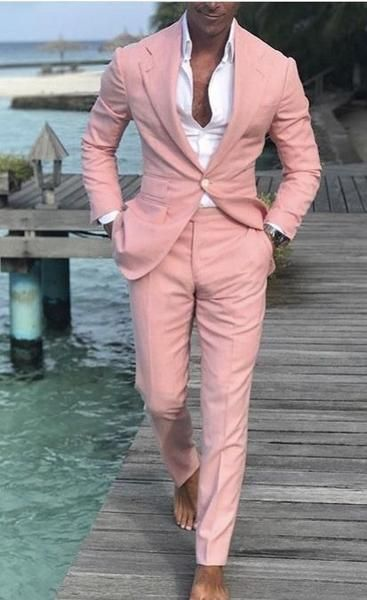 Mens Suit Slim Fit Tuxedo Prom Wedding Blazer Style Gentle Tailor Made 2 Piece Terno #men'ssuits