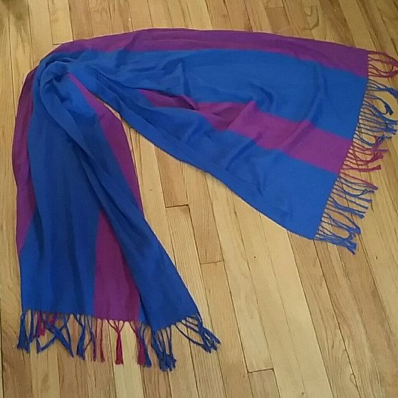 Blue and purple scarf Very soft scarf. Accessories Scarves & Wraps