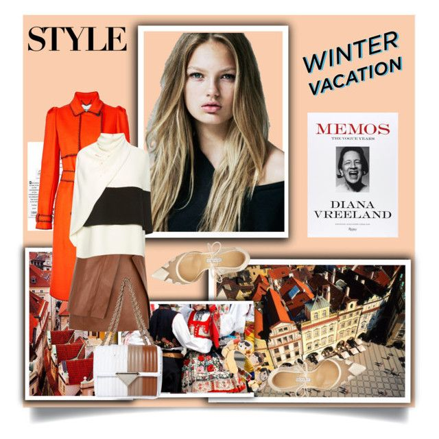 """Winter Holiday"" by sue-mes ❤ liked on Polyvore featuring National Geographic Home, Rizzoli Publishing, Vellum, Kenzo, J.W. Anderson, Derek Lam, Sara Battaglia, Bionda Castana and Bijoux de Famille"