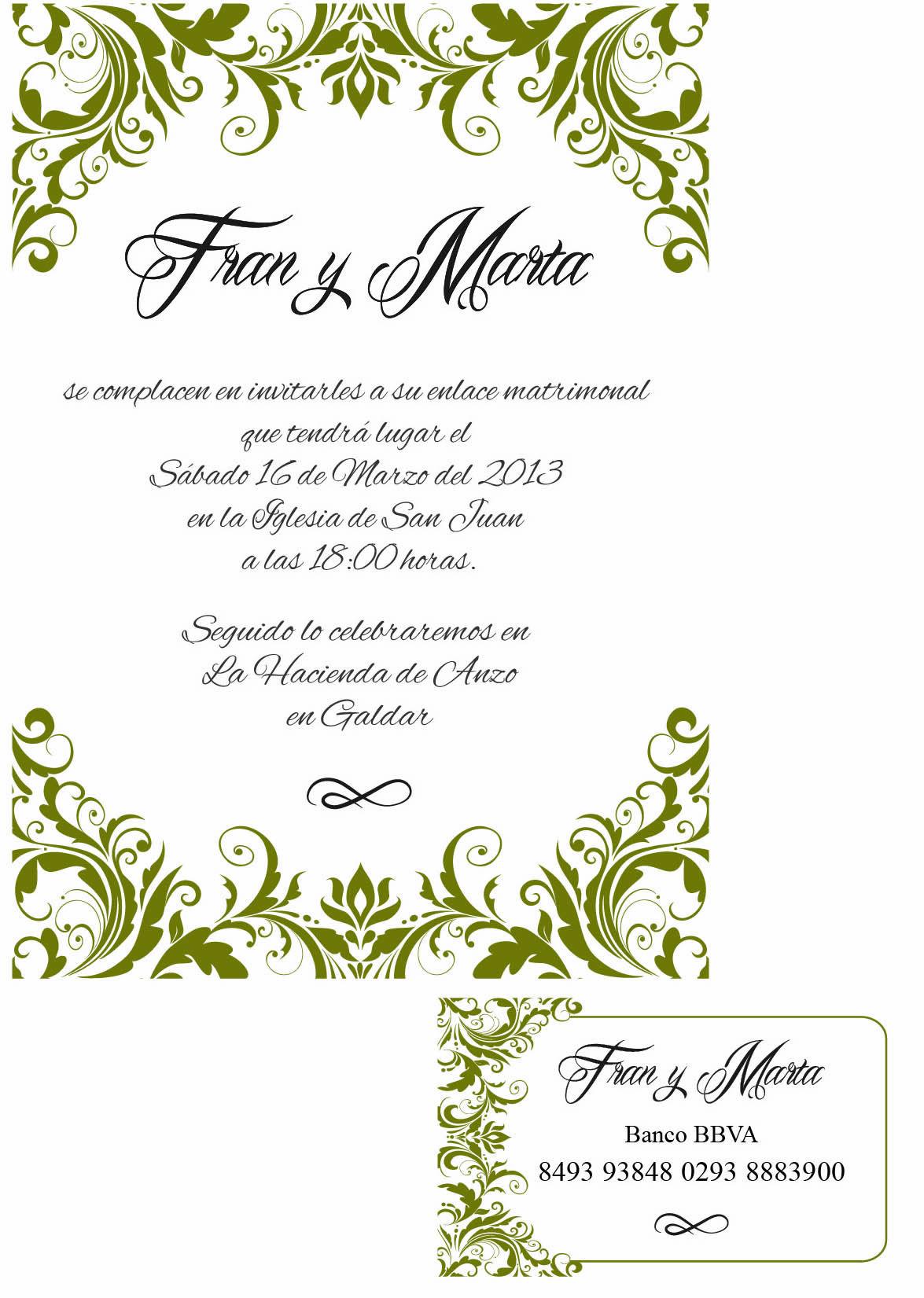 Se realizan dise os exclusivos de tarjetas de boda - Disenos tarjetas de boda ...