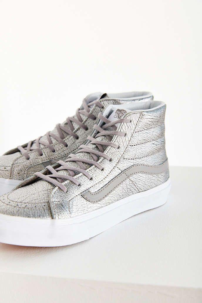 c498a1a686 Vans Sk8-Hi Slim Metallic Foil Sneaker - Urban Outfitters