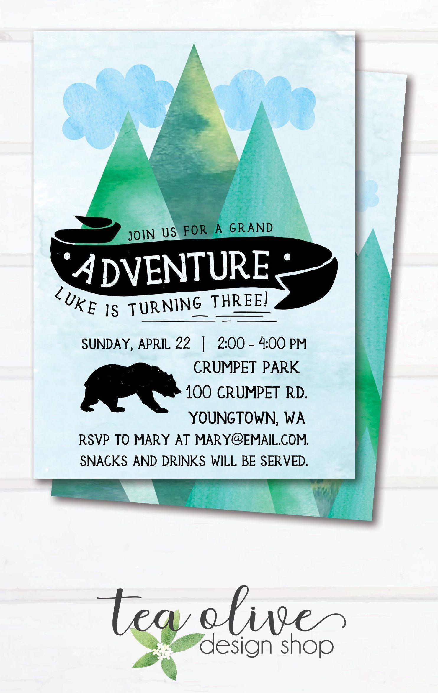 Adventure Birthday Party Invitation