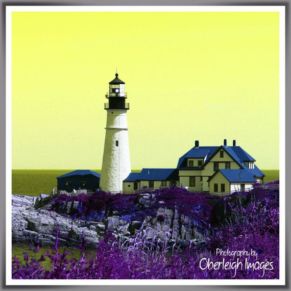 Maine Lighthouse HUEniques Photo Wall Art 3 by OberleighImages ...