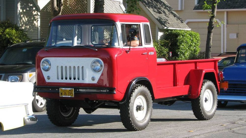 Old Photo Red 1960 Willys Jeep Fc 170 C O E Truck Jeep