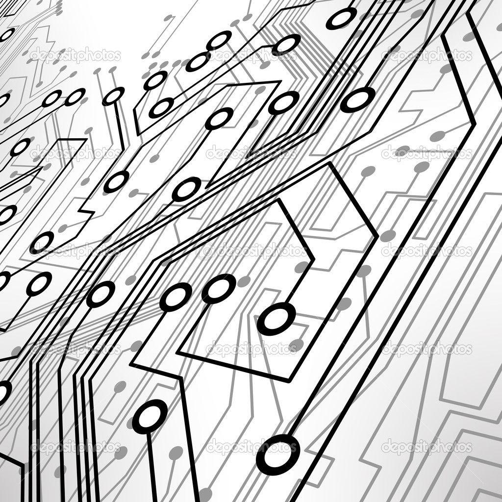 Circuit board vector background — Stock Vector © majcot #8453691 ...
