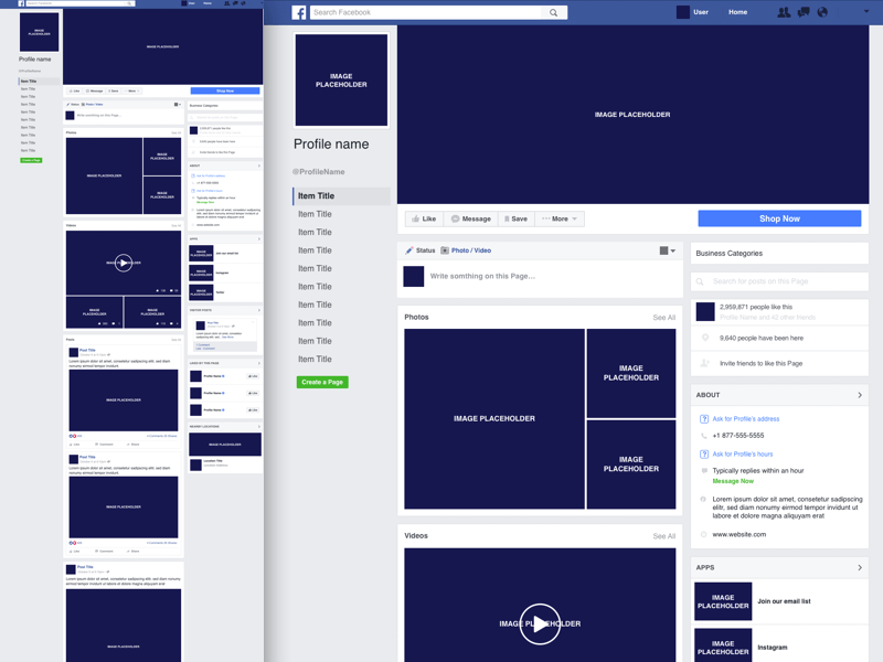 Facebook Business Page Template Free sketch resource for