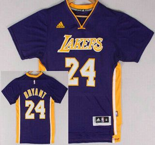 c1558cf48 Los Angeles Lakers Jersey 24 Kobe Bryant Revolution 30 Swingman 2014 New  Purple Short-Sleeved Jerseys