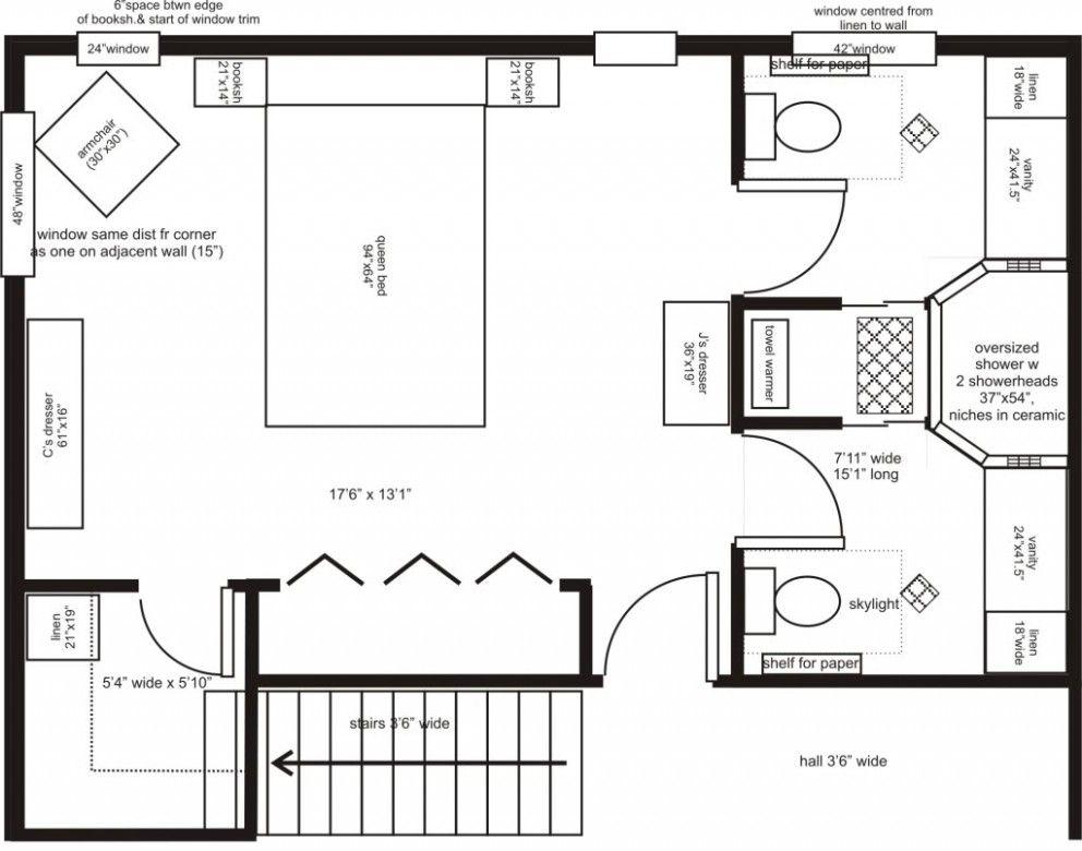 Master Bedroom Layout 25 Best Simple Master Suite Floor Plan Ideas House Plans Master Bedroom Plans Master Suite Floor Plan Bedroom Floor Plans