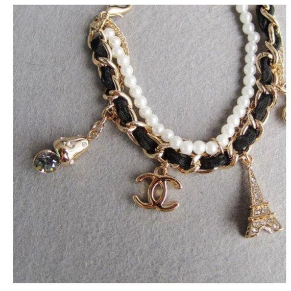 Chanel Inspired Charm Bracelet 25 00 Via Etsy Charm