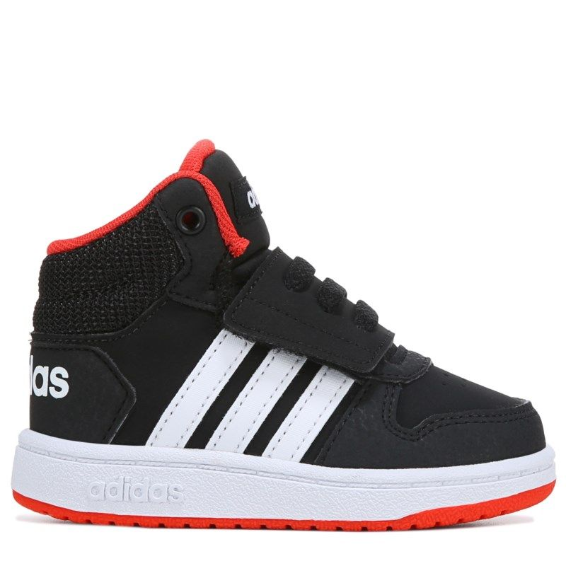 best website 40c53 a89ae Adidas Kids  Neo Hoops High Top Sneaker Toddler Shoes (Black Red)