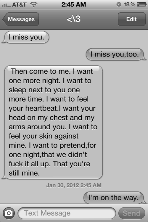 Cute I Miss You Text Messages