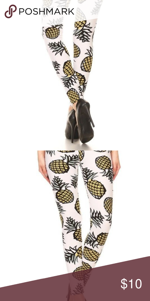 965aa1a37aee5 Pineapple Leggings One Si Like new condition! One size- Small/Medium Pants  Leggings