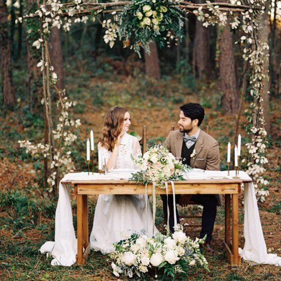 Oak Arbor Reception: Sophisticated Yet Whimsical Outdoor Wedding Inspiration