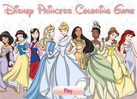 Игра Раскраски принцесс Диснея | Принцессы диснея ...