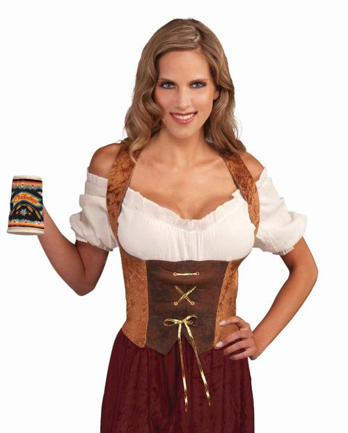 Fancy dress costume deluxe medieval wench