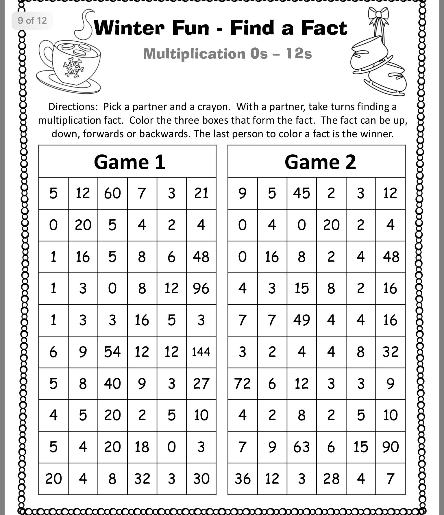 Pin By Margaret Bruinsma On Math Games