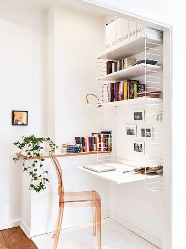 d\'un bureau dans un petit espace
