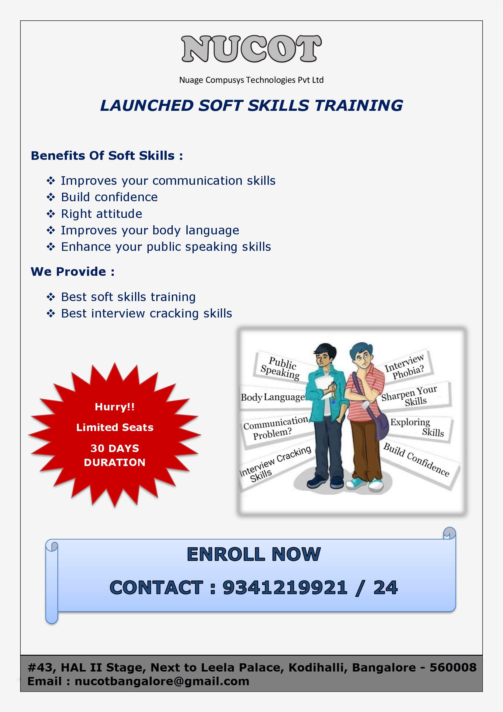 Best Training Institute In Bangalore Nucot Soft Skills Training Job Training Communication Skills