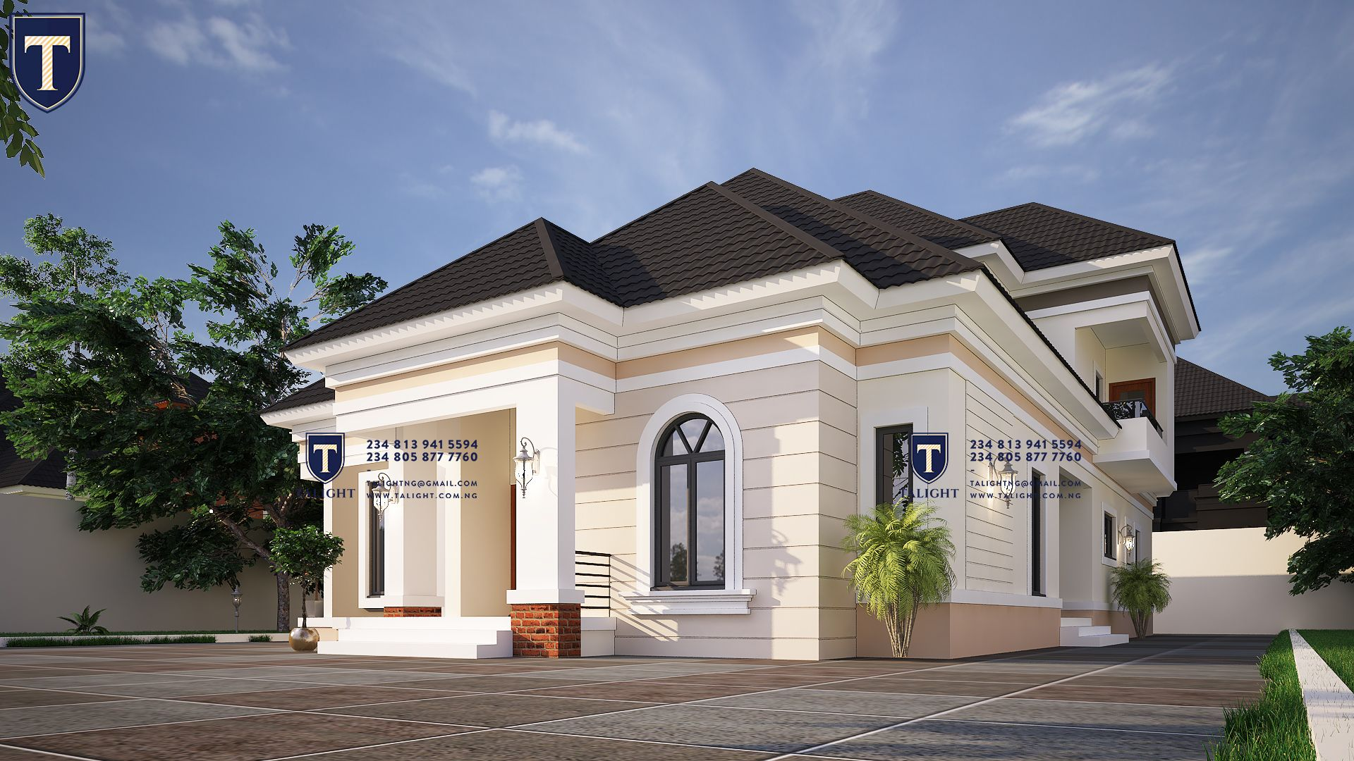 Four Bedroom Bungalow Plan In Nigeria in 2020 | Modern ...