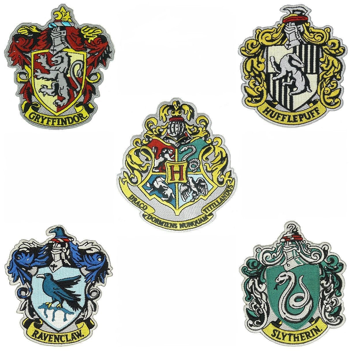 LOT Ravenclaw Gryffindor embroidered Harry Potter PATCH-EMBROIDERED// IRON ON