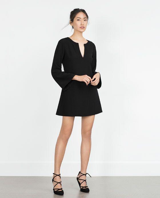 Image 1 of BELL SLEEVE DRESS from Zara | Zara | Lookbook | Pinterest