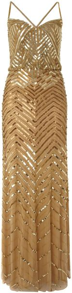 Untold Gold Beaded Blouson Style Dress