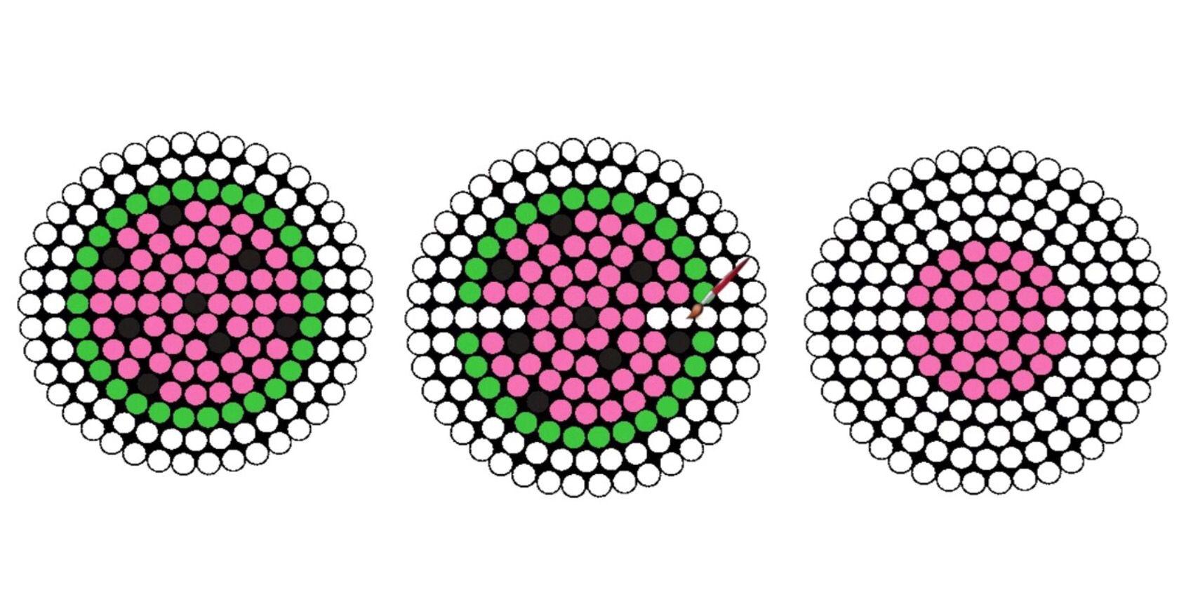 Watermelon Earbud Holder Perler Beads Pattern Diy Perler Beads