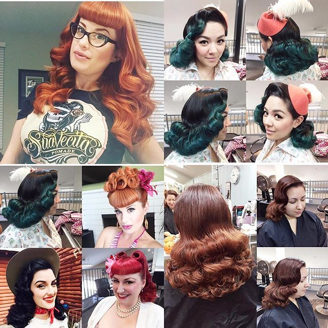 Redpinupdoll Will Be Teaching A Vintage Hair Styling Class Here In Orange County On March 6th Here Are Some Popular Hairstyles Hair Styles Vintage Hairstyles