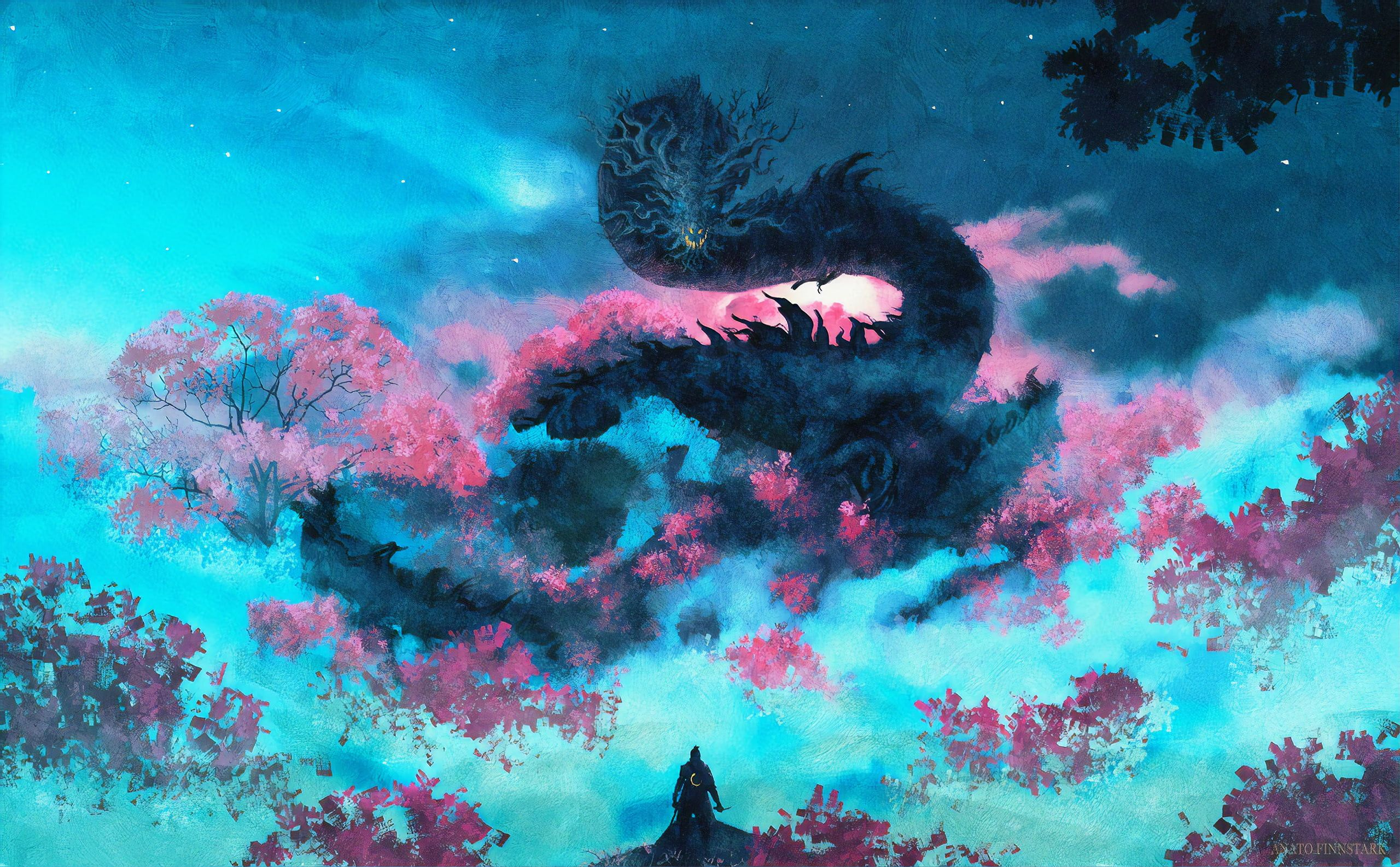 Video Game Sekiro Shadows Die Twice Dragon Warrior 2k Wallpaper Hdwallpaper Desktop Art Digital Artist Artwork