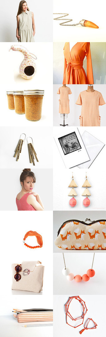 Peach and orange by Francesca Lancisi on Etsy--Pinned with TreasuryPin.com