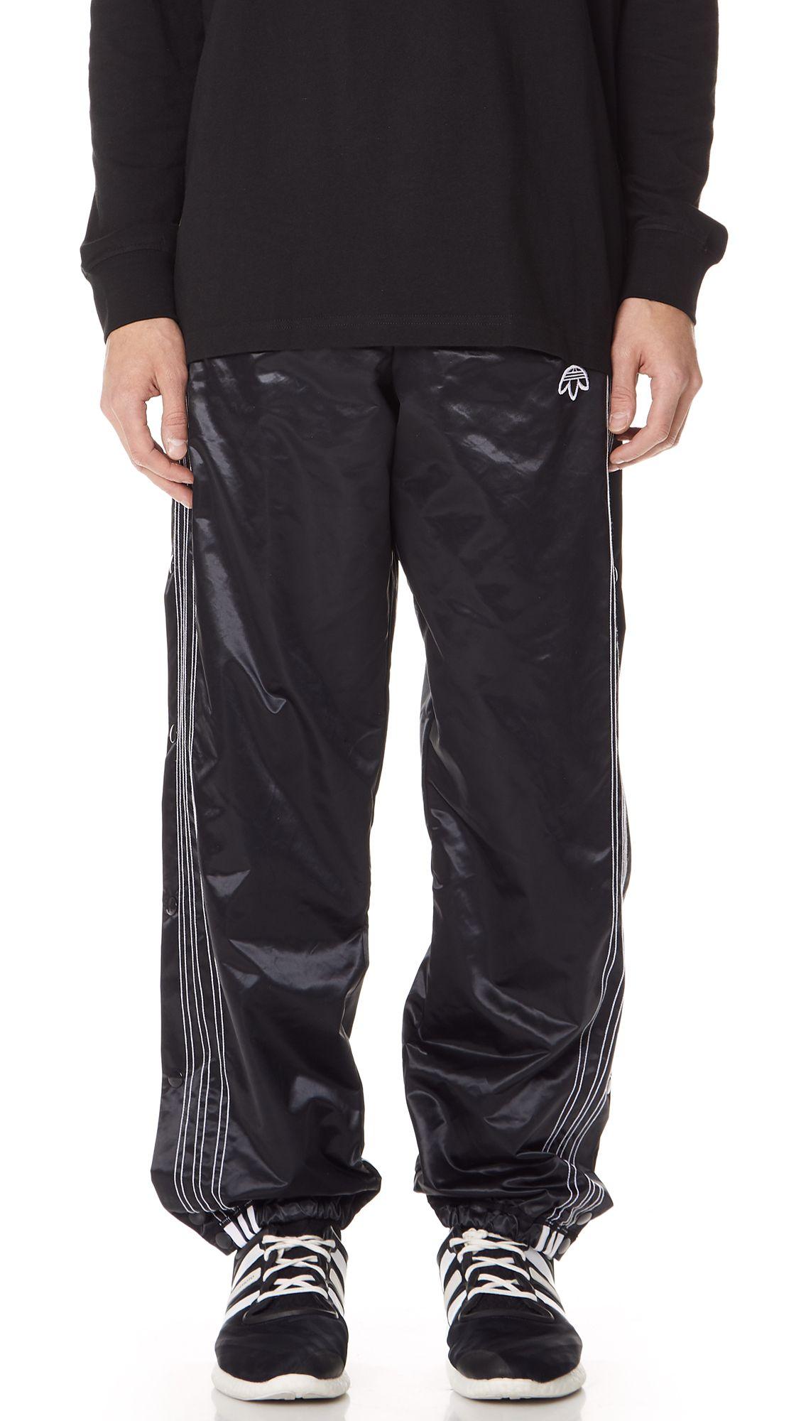 oh adibreak pantaloni neri adidas originali da alexander wang uomini