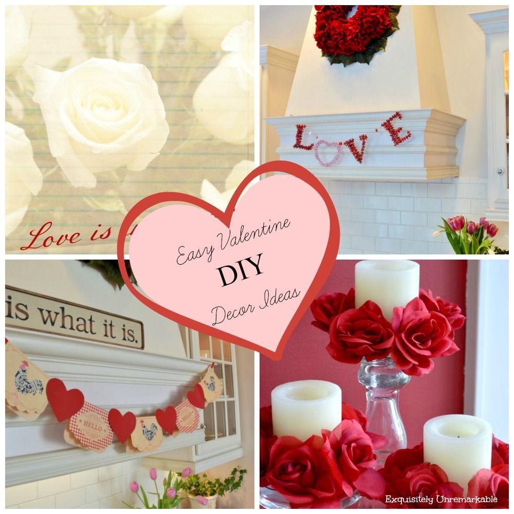 Easy DIY Valentine Decor Ideas | Valentine Ideas | Pinterest | Easy ...