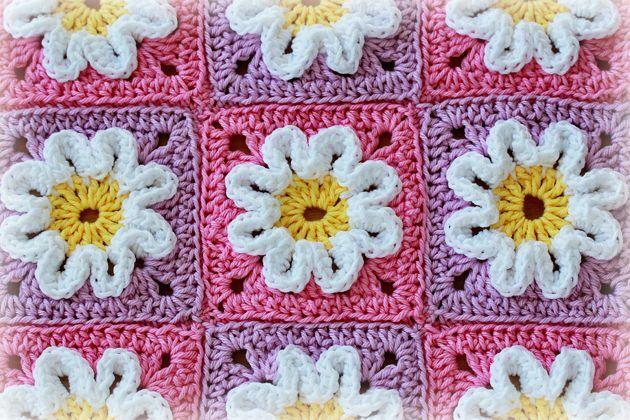 crochet-3D-squares | SQUARE BLANKET | Pinterest