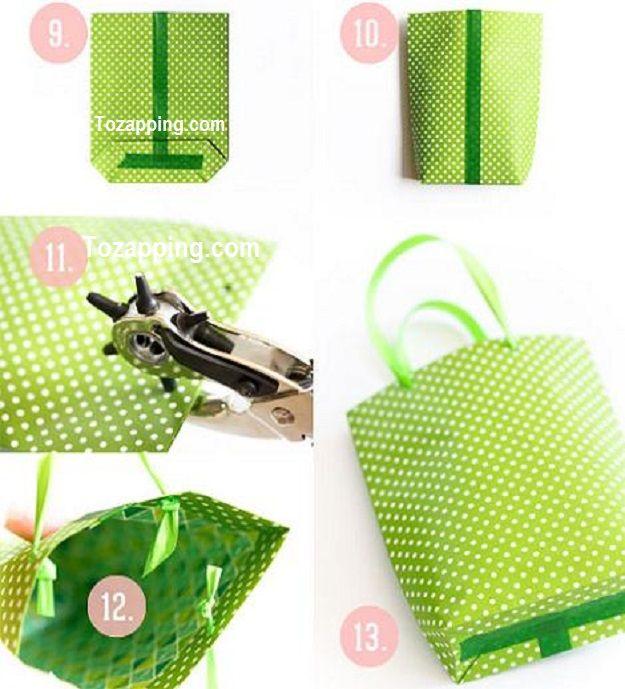 C mo hacer una bolsa de papel hacer bolsas de papel es - Hacer bolsas de papel para regalo ...