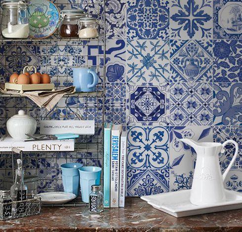 Portugues azul b adesivo azulejos portugueses cl ssicos for Azulejo azul
