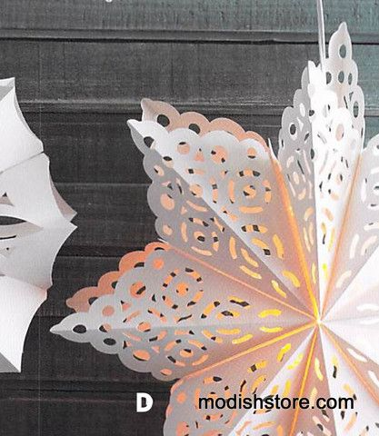 Roost Handmade Snowflake Pendant Lamps Party Decor Diy
