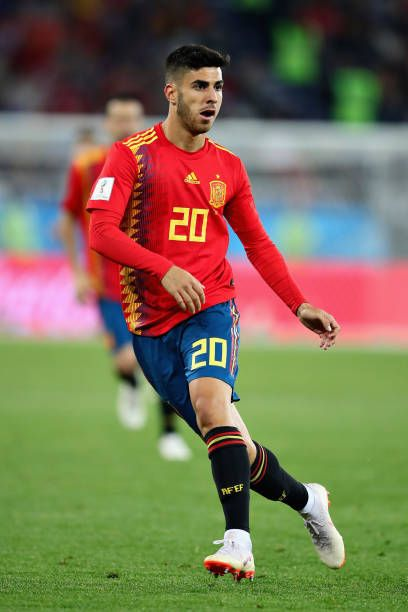 Marco Asensio of Spain in action during the 2018 FIFA ...