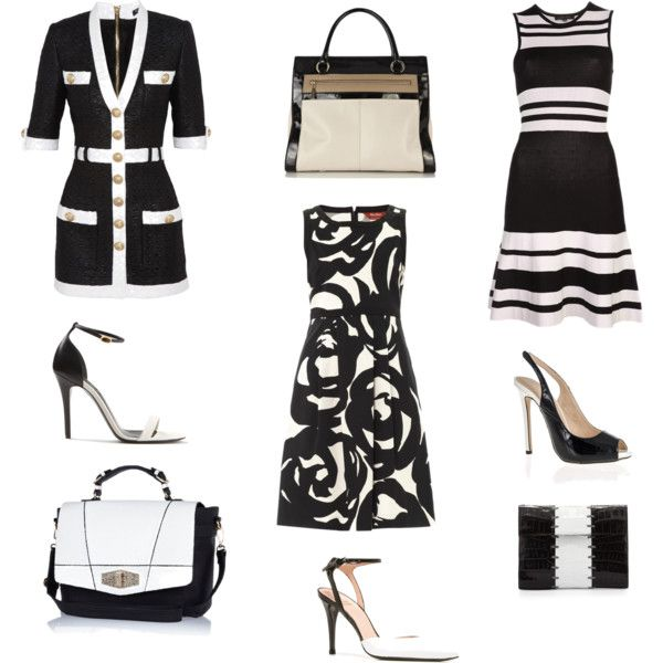 """black and white"" by mbmarcos on Polyvore"