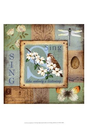 A Bird Resting On A Flower With Green Leaves - Sweet Inspirations