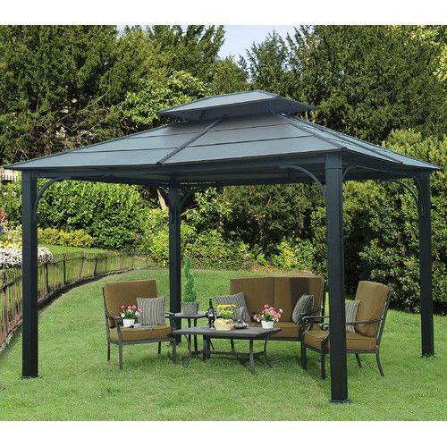Found It At Wayfair Flora 10 Ft W X 12 Ft D Metal Permanent Gazebo Permanent Gazebo Gazebo Garden Gazebo