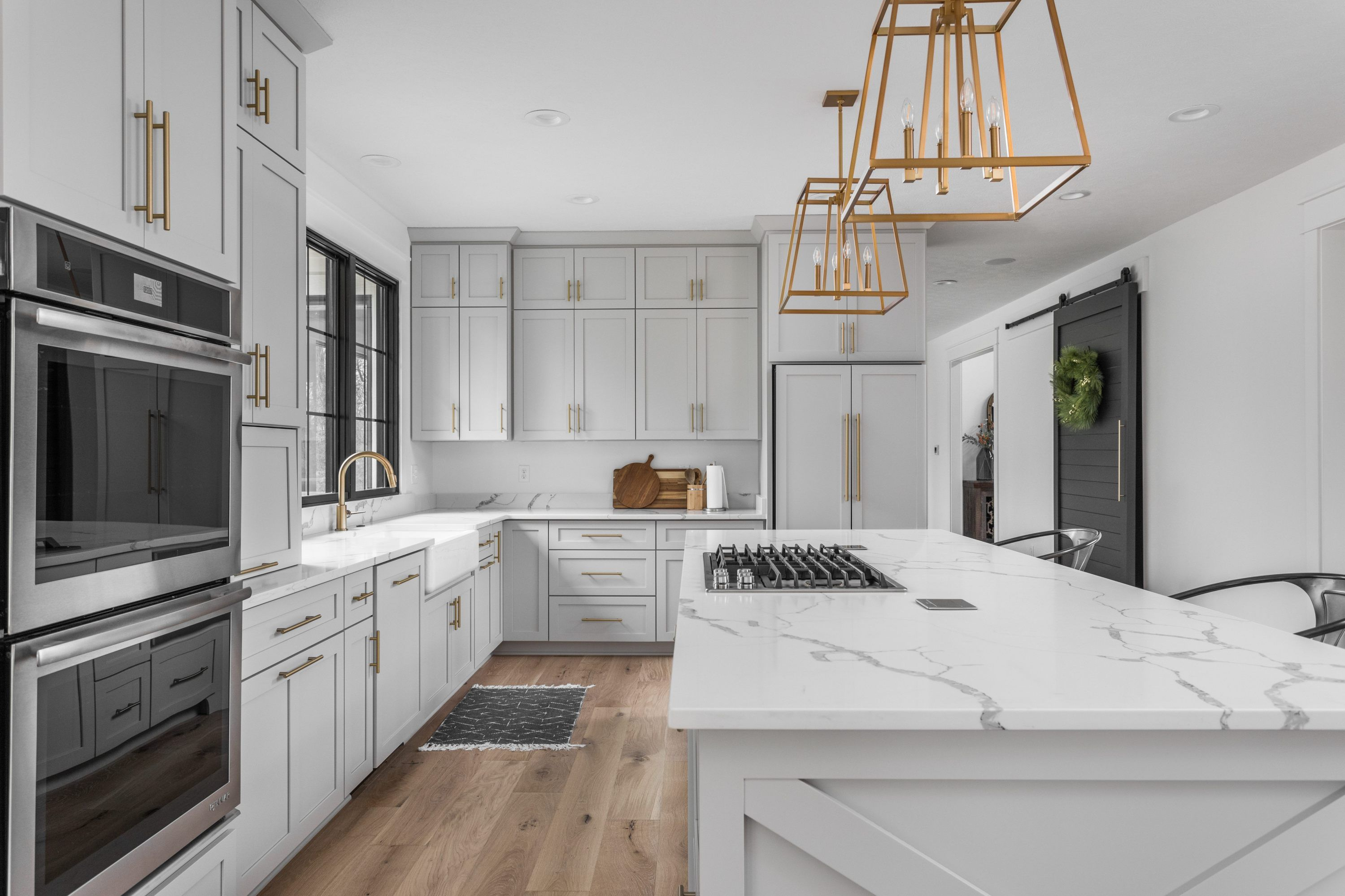 home tour modern farmhouse kitchen with repose grey kitchen cabinets by sherwin williams on farmhouse kitchen gray id=51238