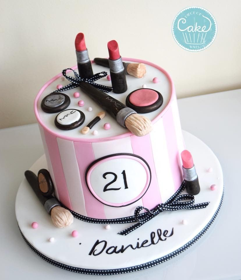 Instead Of 21 Do 11 Makeup Birthday Cakes Make Up Cake
