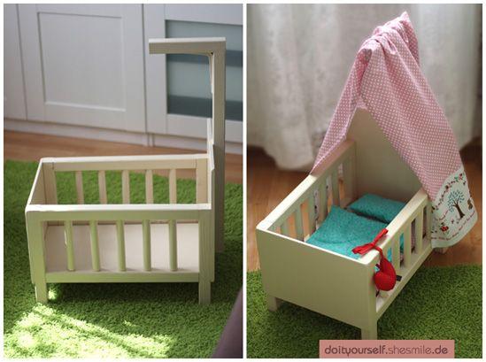 puppenbett aus holz selber bauen ganz einfach mit dieser. Black Bedroom Furniture Sets. Home Design Ideas