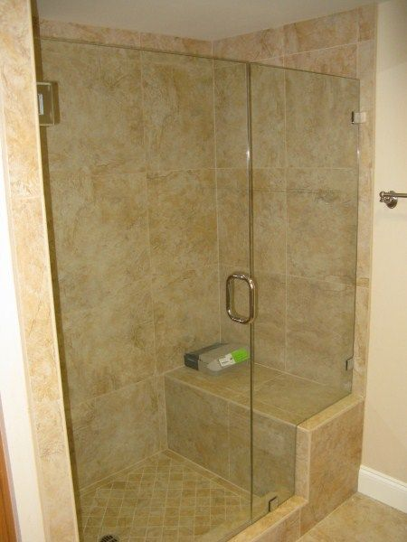 A shower with a seat in it, now that\'s a dream.   Dream Home ...