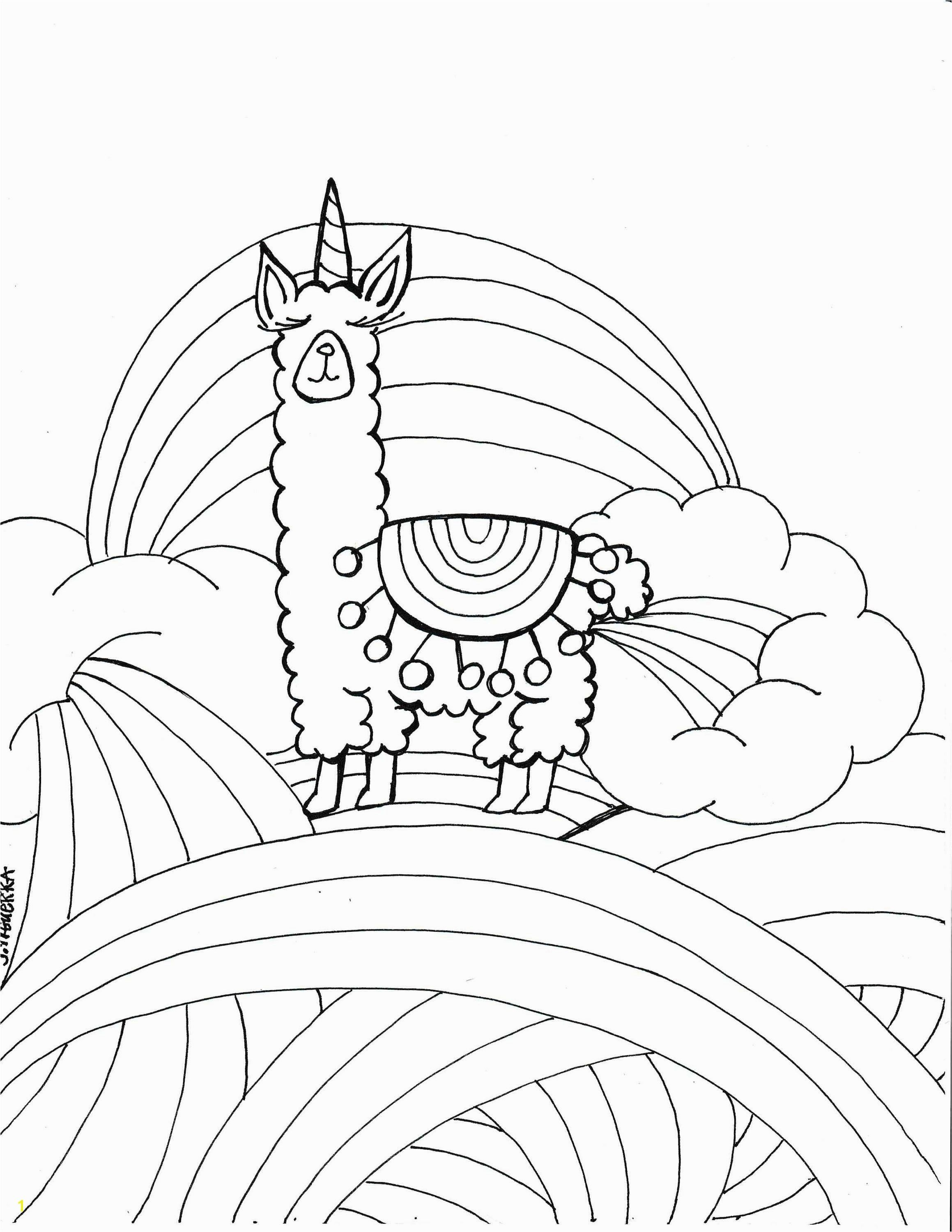 Printable Cute Llama Coloring Page For Kids Kawaii Llama Etsy Coloring Pages For Kids Cute Llama Coloring Pages