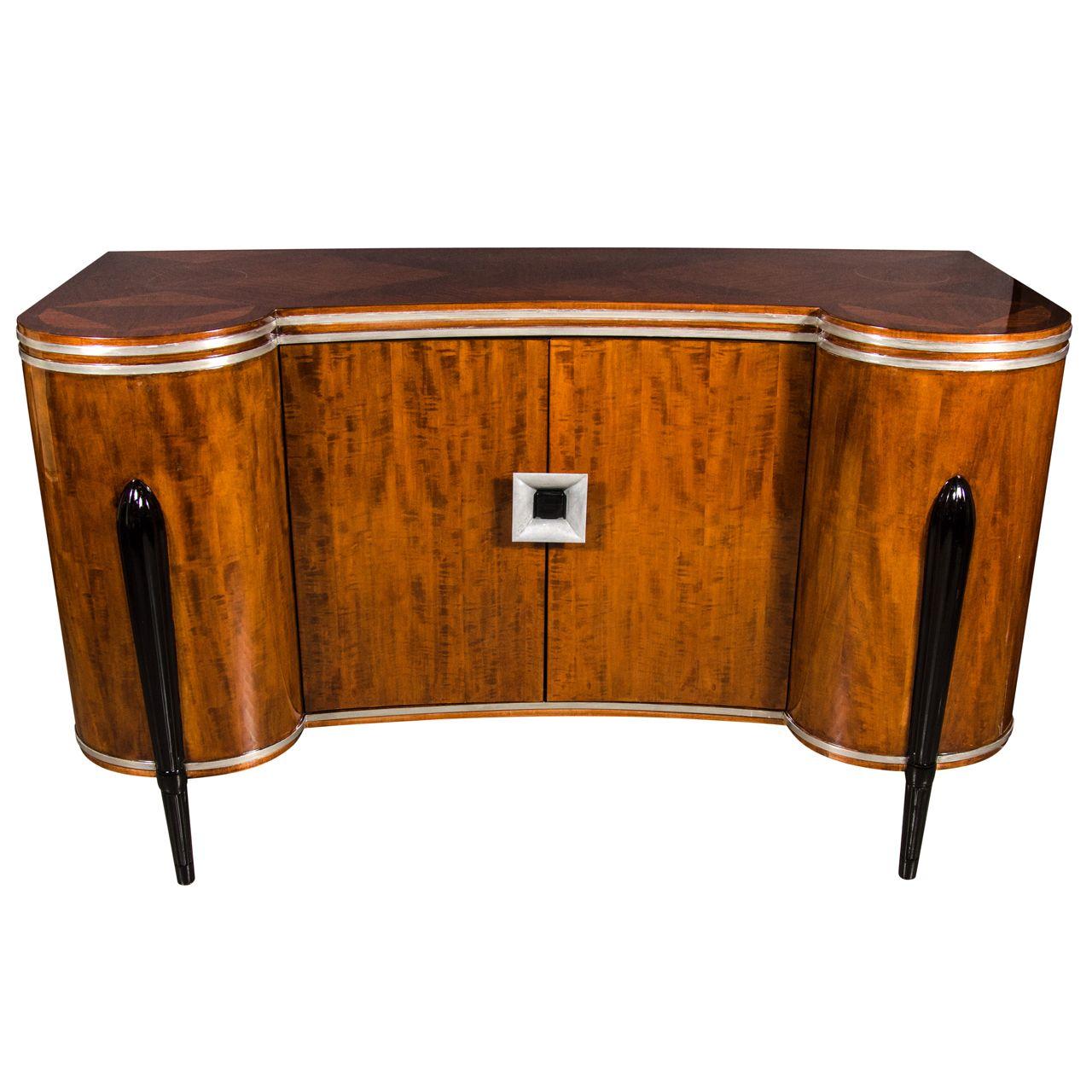 Art Deco Buffet Cabinet In The Manner Of Ruhlmann Art Deco