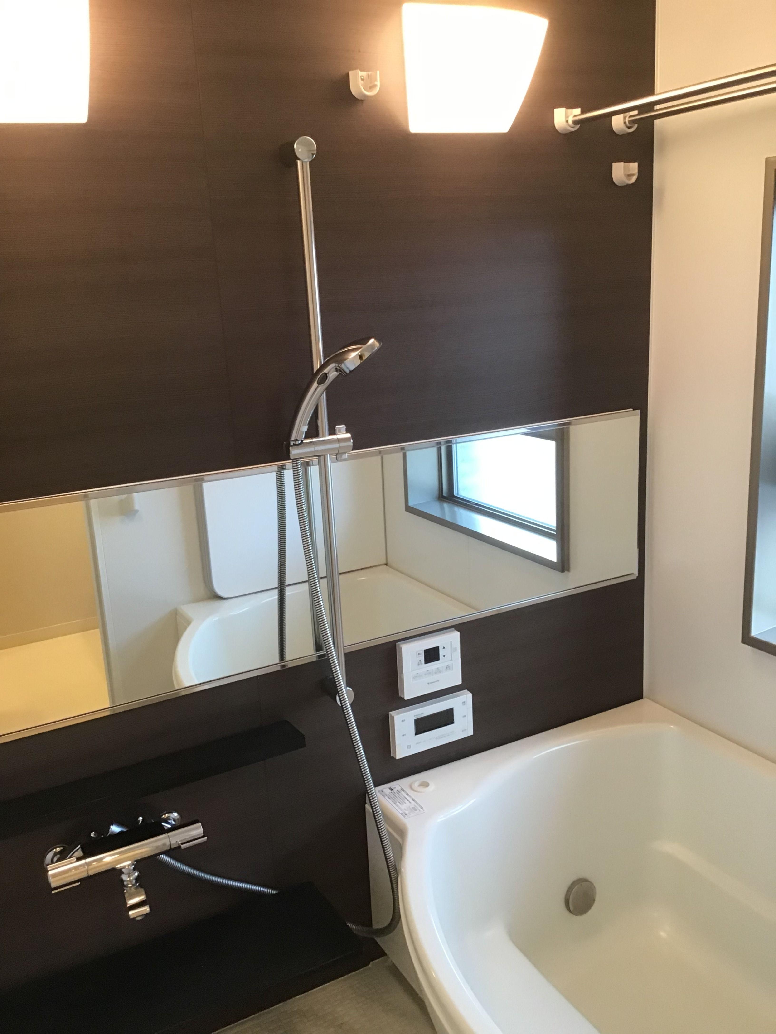 お風呂の鏡交換をしました バスルーム 鏡 バスルーム 鏡 お風呂